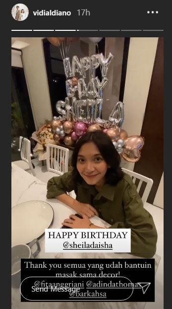 Ultah Sheila Dara ke 28 Instagram