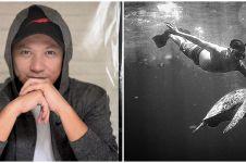 10 Potret Gading Marten liburan ke Labuan Bajo, menyelami bawah laut