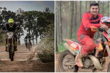 Cerita 10 seleb ganteng hobi tunggangi motor trail