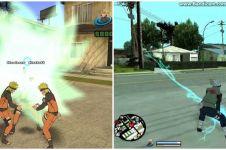 10 Editan karakter Naruto di GTA San Andreas, absurd tapi kocak