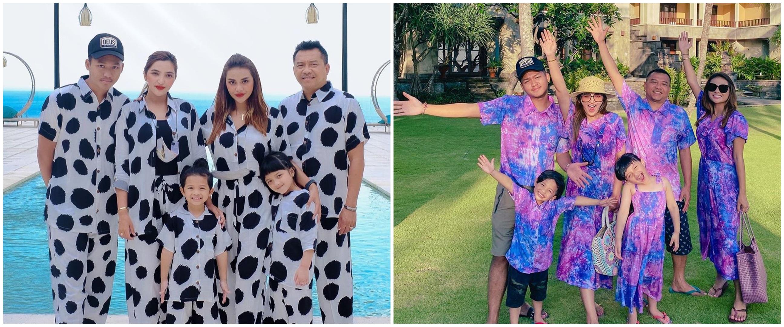 11 Potret keluarga Ashanty pakai baju kembar, banjir pujian