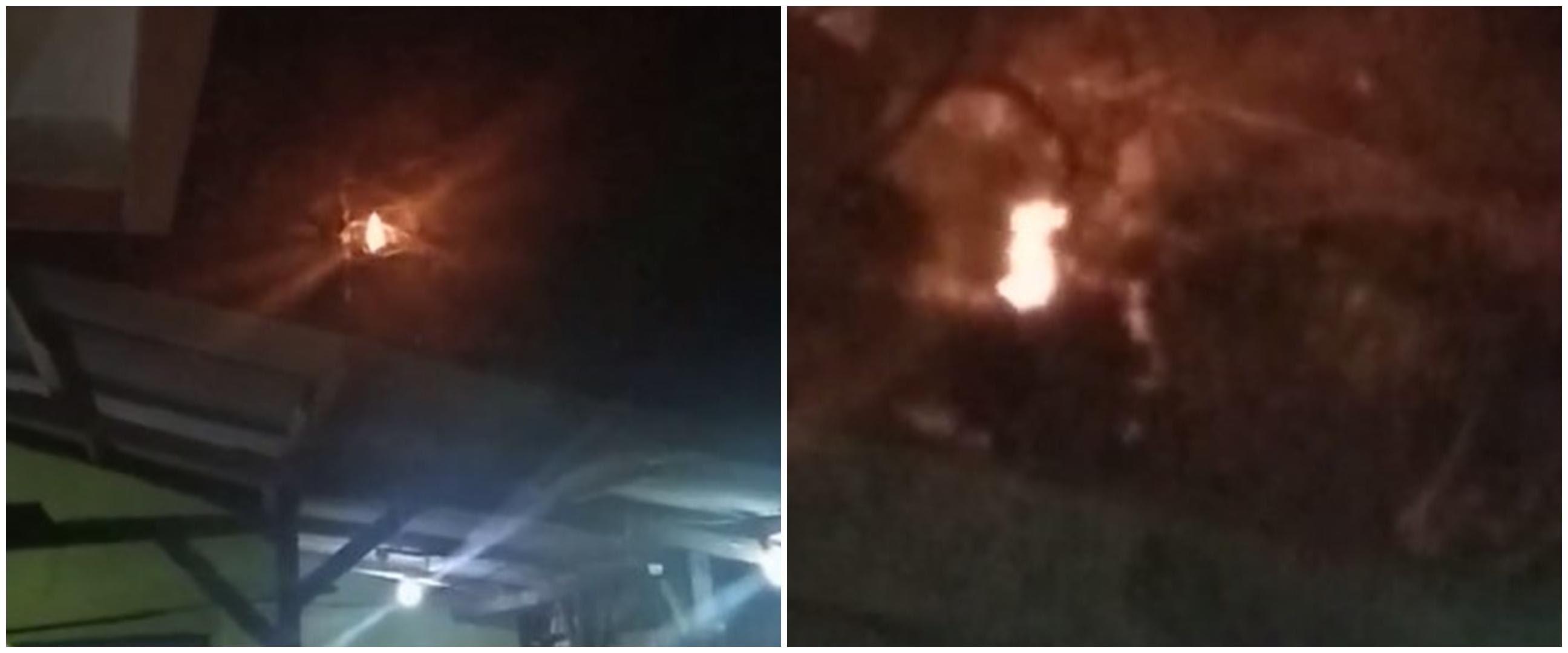 Viral api terbang di atas genteng, bikin merinding warganet