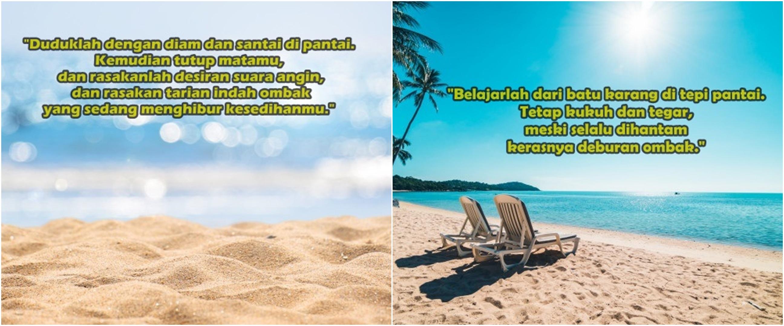 40 Kata-kata tentang pemandangan pantai, bisa jadi caption Instagram