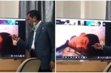 Viral video mahasiswa tidur saat kuliah online, respons dosen kocak