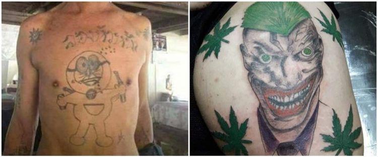 10 Desain tato ini absurdnya bikin ketawa, jadi gagal seram gitu