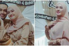 8 Momen syukuran 4 bulan kehamilan Ana Riana, gayanya curi perhatian