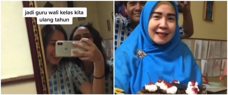 Viral video murid beri kejutan ultah ke guru, endingnya bikin haru