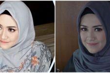 10 Pesona Happy Asmara tampil berhijab, cantik dan menawan