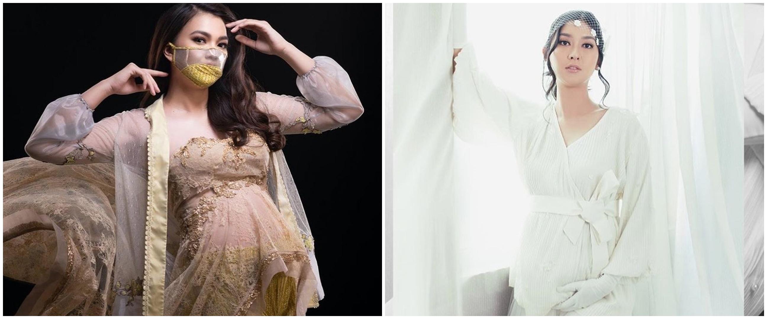 Gaya pemotretan maternity 7 Puteri Indonesia, auranya terpancar
