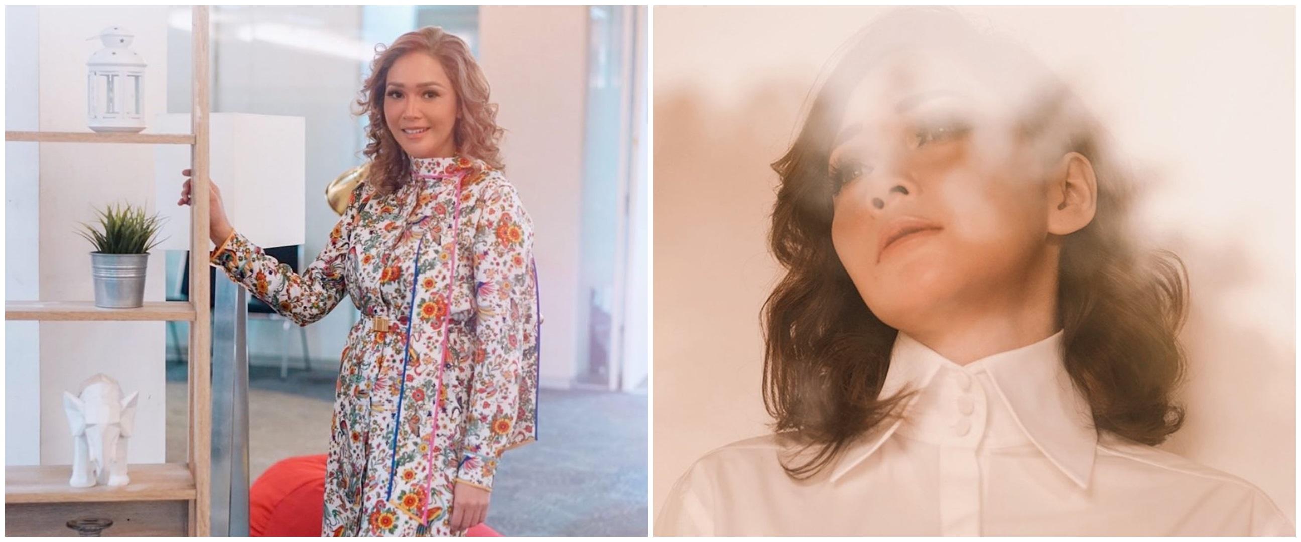 10 Potret terbaru Maia Estianty dengan rambut ikal, bak madam Eropa
