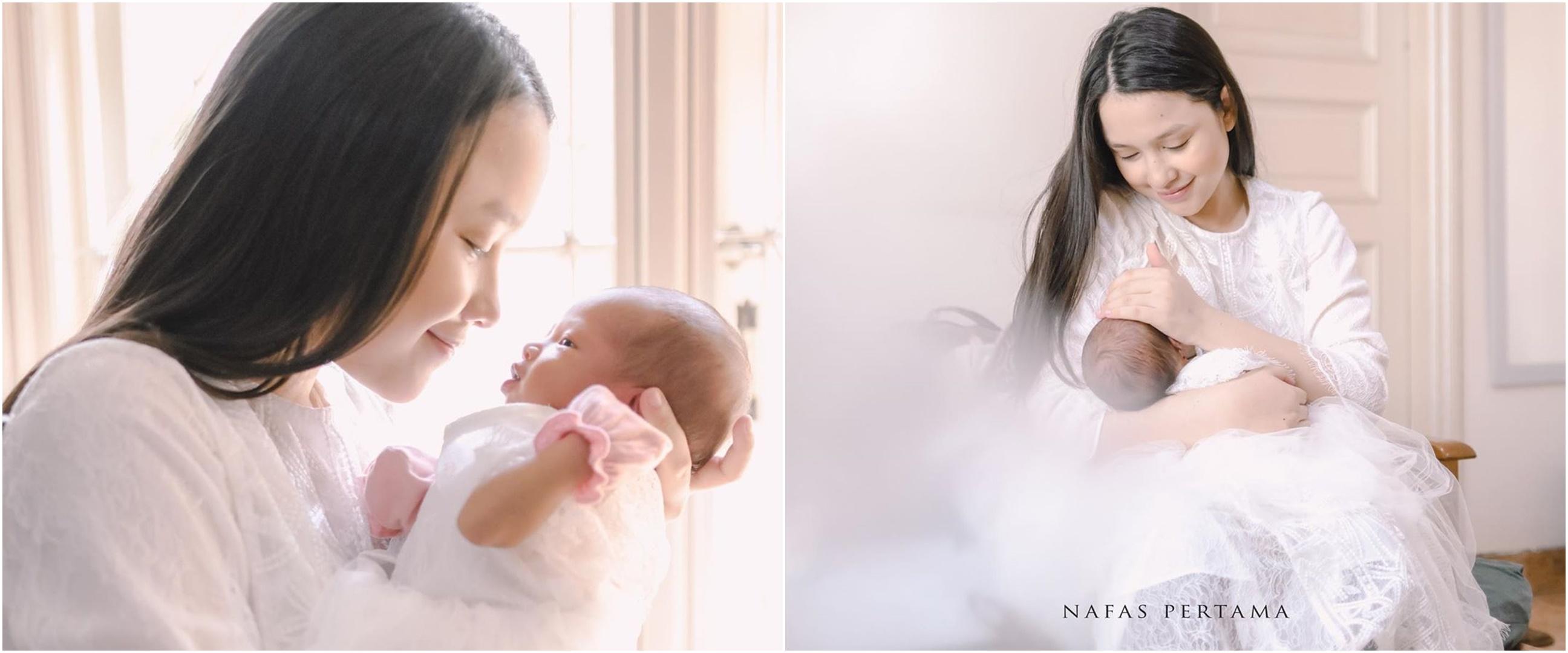 8 Potret terbaru Anjani Dina 'Bu Guru Yola' usai lahiran anak pertama