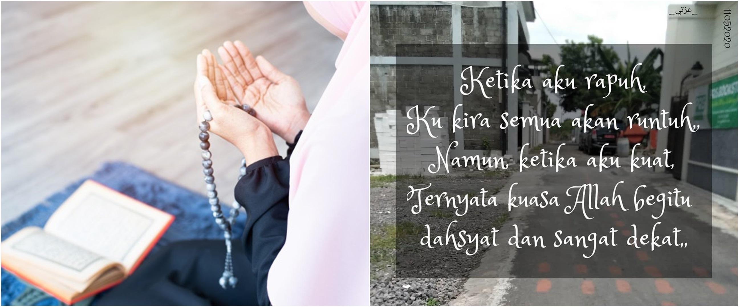 45 Kata-kata mutiara Islami berserah diri, terbaik dan penuh makna