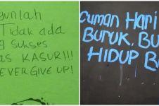 10 Tulisan motivasi di tembok ini bikin nyengir semangat