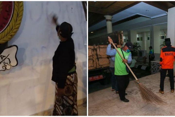 10 Momen warga Jogja bersih-bersih sampah usai demo tolak Omnibus Law