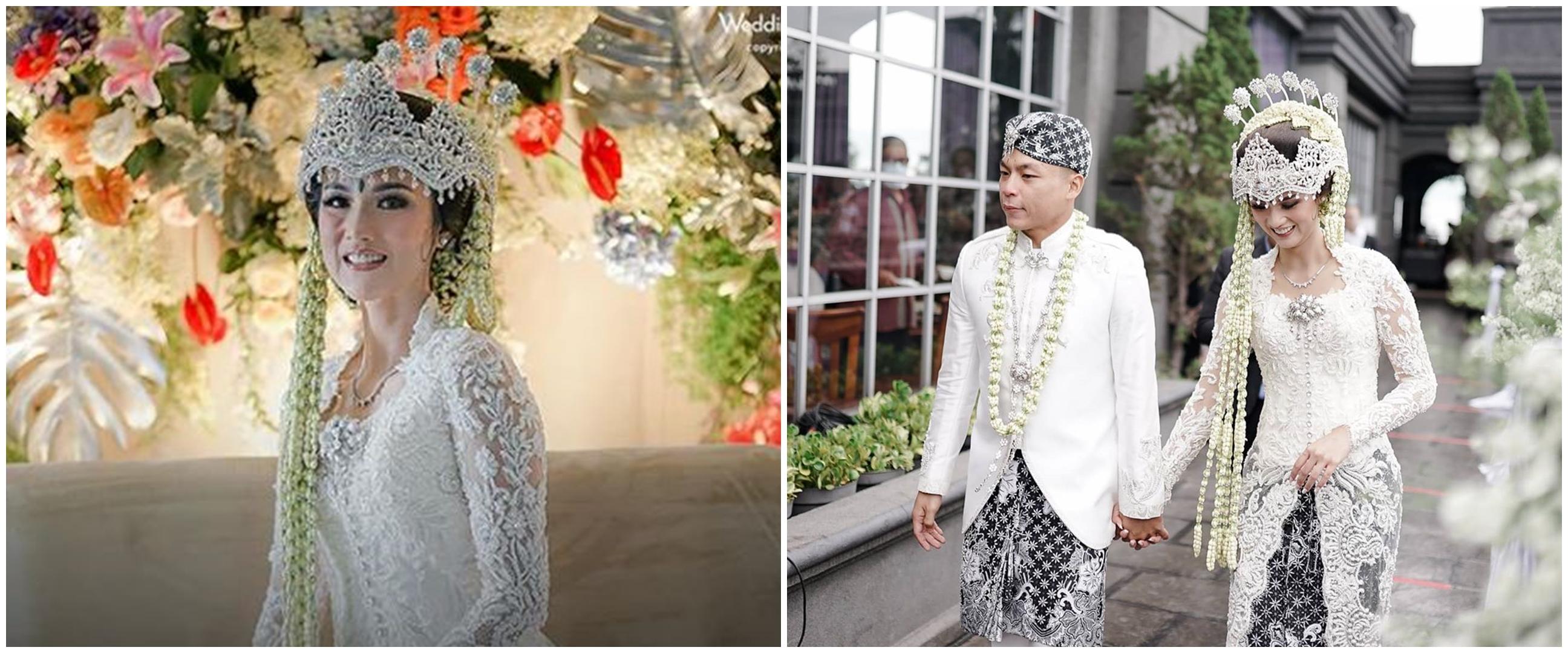 10 Momen pernikahan Atries Angel mantan Chef Juna, pakai adat Sunda