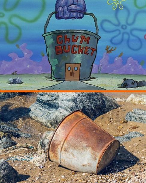 Cocoklogi benda di SpongeBob Berbagai sumber