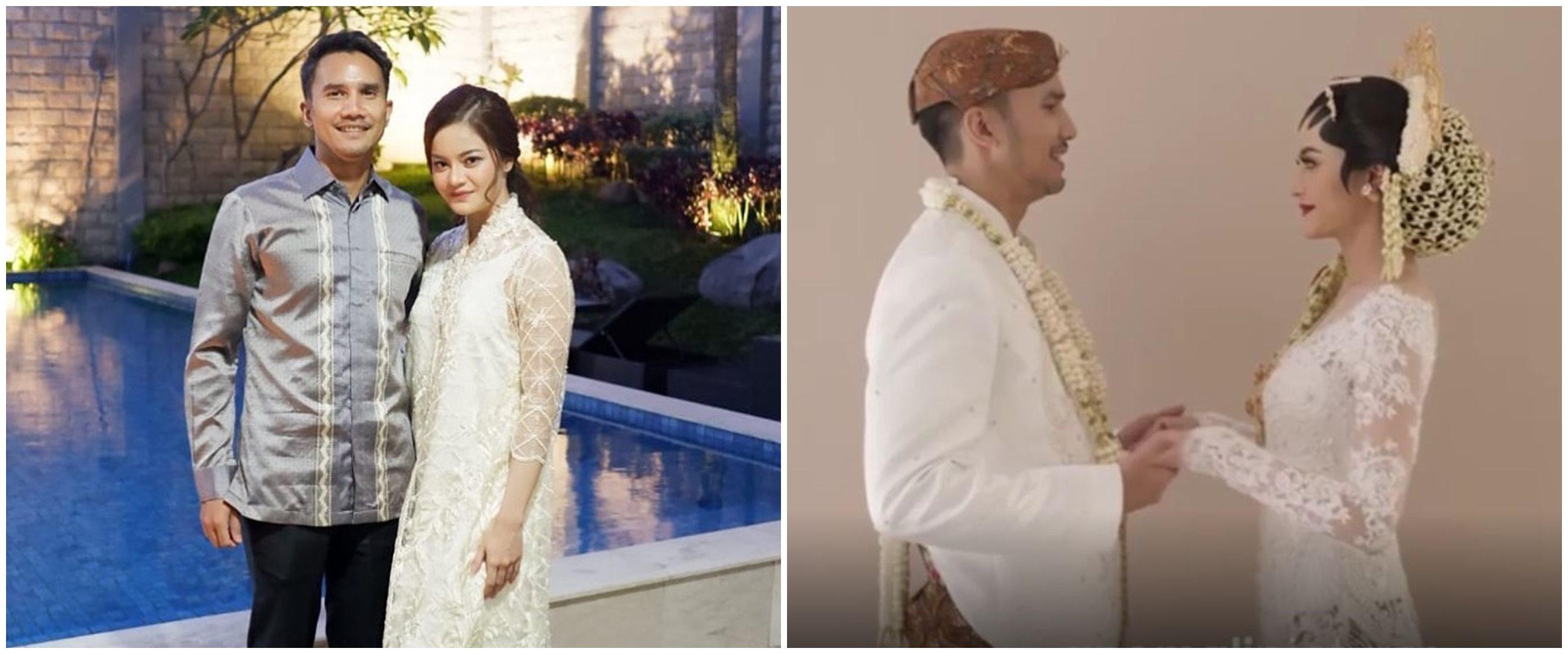 10 Momen pernikahan Ovi Dian dan Helmi Rahman, mahar curi perhatian