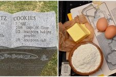 Kisah haru di balik tulisan resep kue cookies di batu nisan