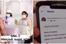 Viral pernikahan dengan mahar saldo Rp 10 juta di aplikasi ojek online