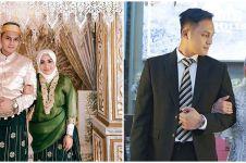 7 Potret Muzdalifah kondangan bareng suami, bak pengantin baru
