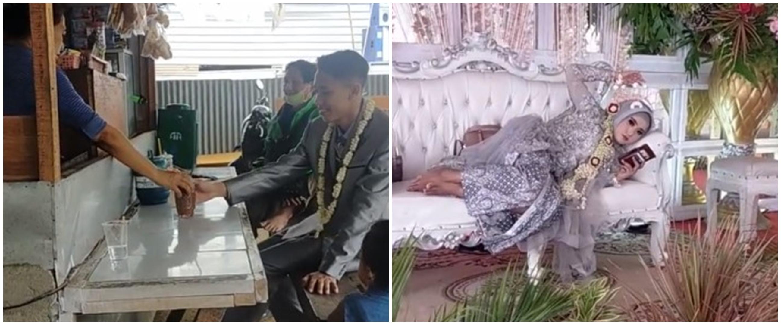 Viral pasangan gelar acara nikah dengan cara unik, kelewat santai