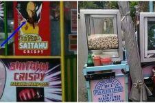 20 Gambar absurd di gerobak pedagang, desainnya kocak abis