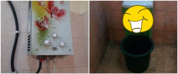 Cara cowok akali pengganti pemanas air di kamar mandi ini kocak