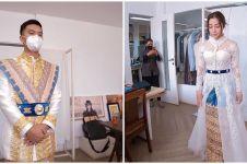 10 Potret baju akad Nikita Willy & Indra, padukan gaya tradisi-modern