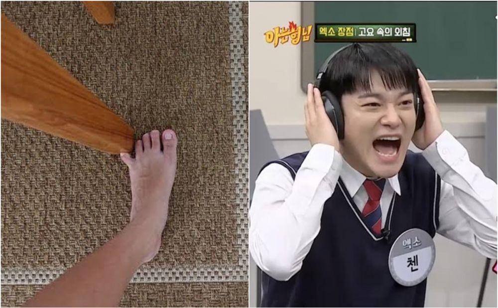 Meme jari kaki kena meja Berbagai sumber