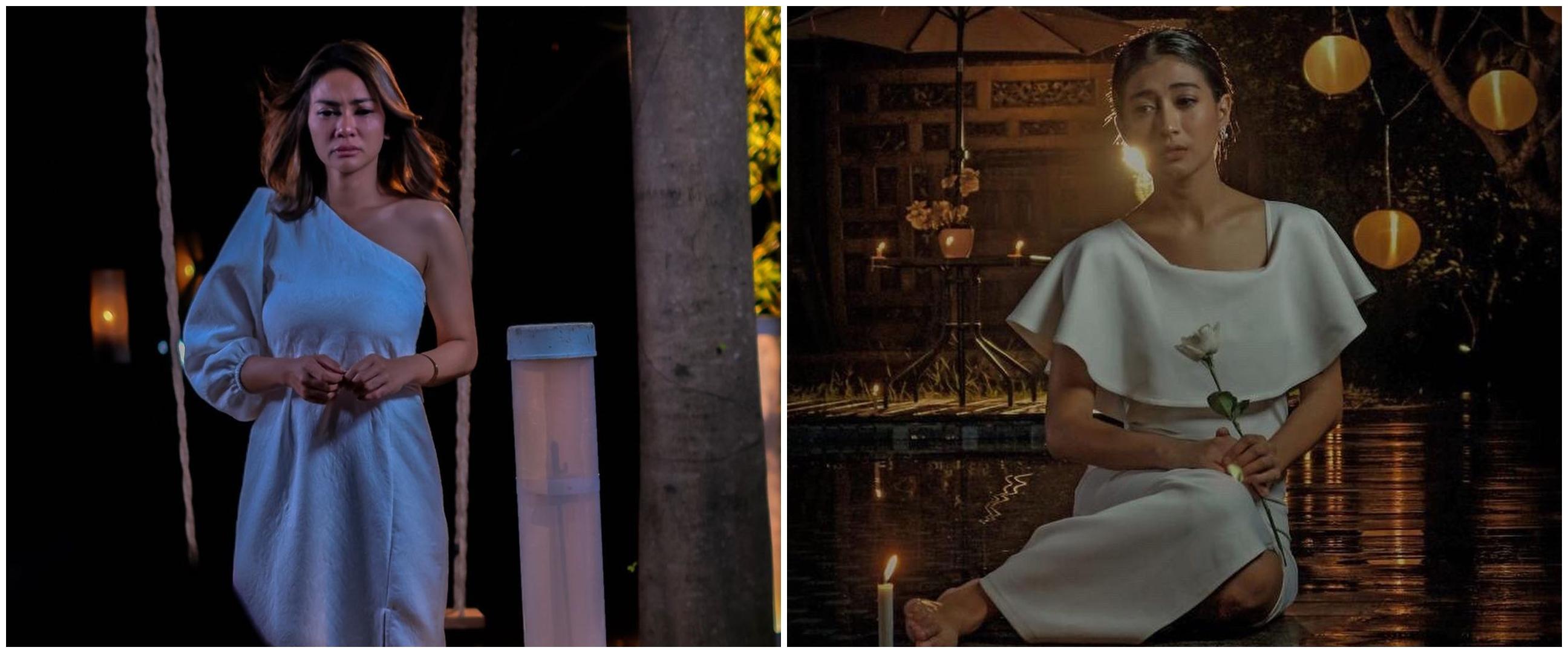 Natural di TV, potret 10 seleb 'istri tersakiti' saat bermakeup tebal