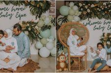 7 Momen Rachel Maryam pulang ke rumah usai melahirkan anak kedua