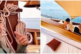 10 Potret kapal yang disewa Raffi Ahmad di Labuan Bajo, bak hotel