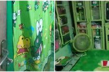 10 Potret rumah bertema Keroppi ini unik, alat makan serba hijau