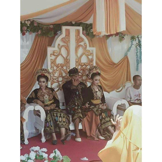 Viral siswa SMK nikahi dua kekasihnya sekaligus © 2020 brilio.net