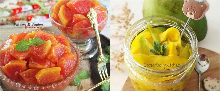 10 Resep manisan buah, enak, manis, segar, dan mudah dibuat