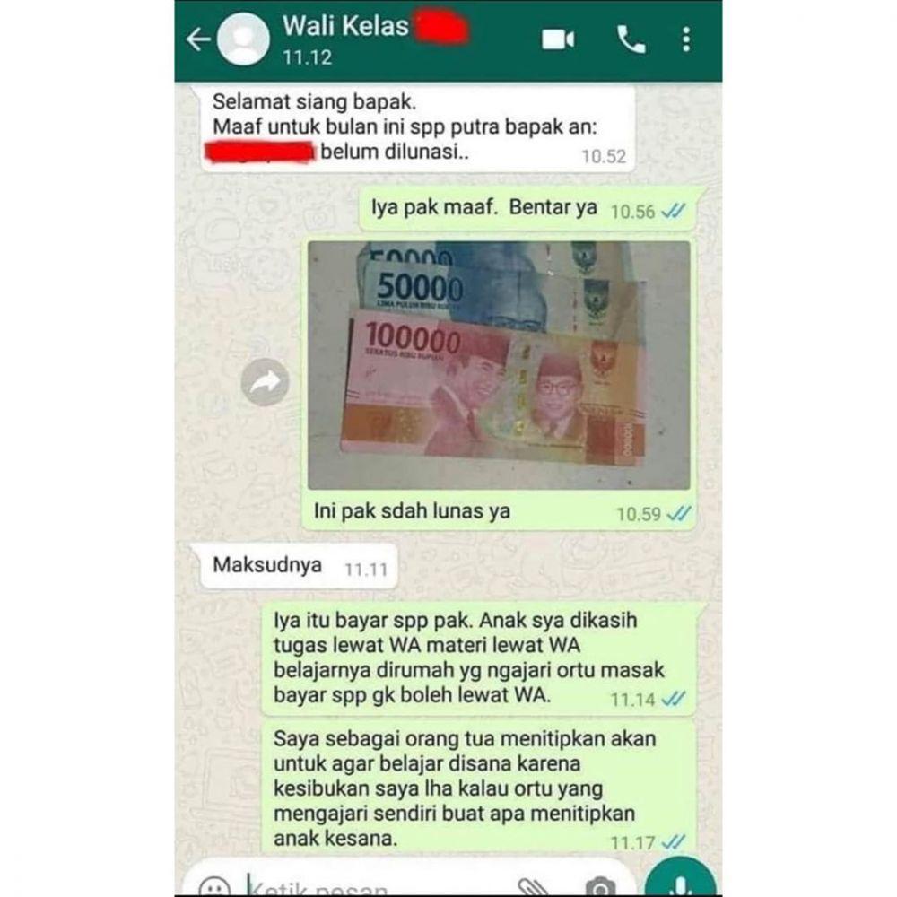 balasan chat bergambar Instagram