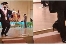 Pakai high heels saat wisuda, aksi pria lulusan seni ini bikin heboh