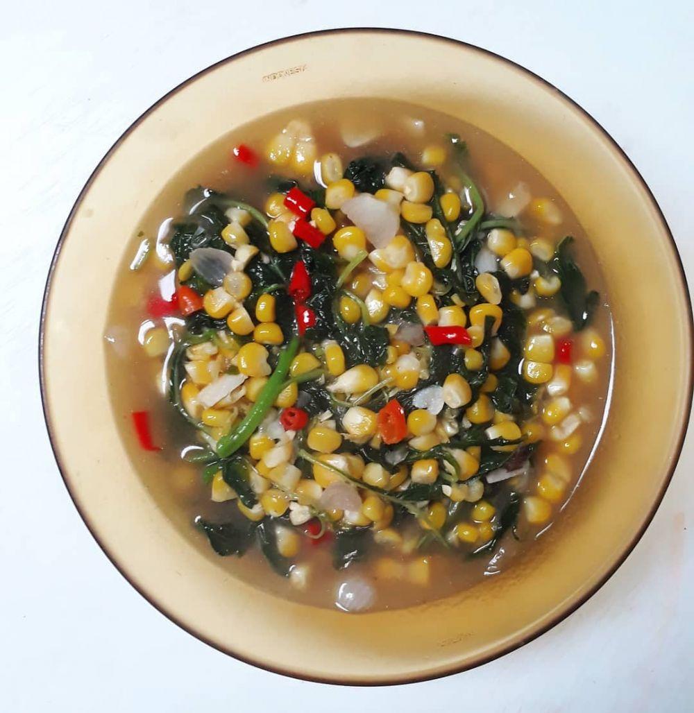Olahan jagung untuk menu makan siang Instagram