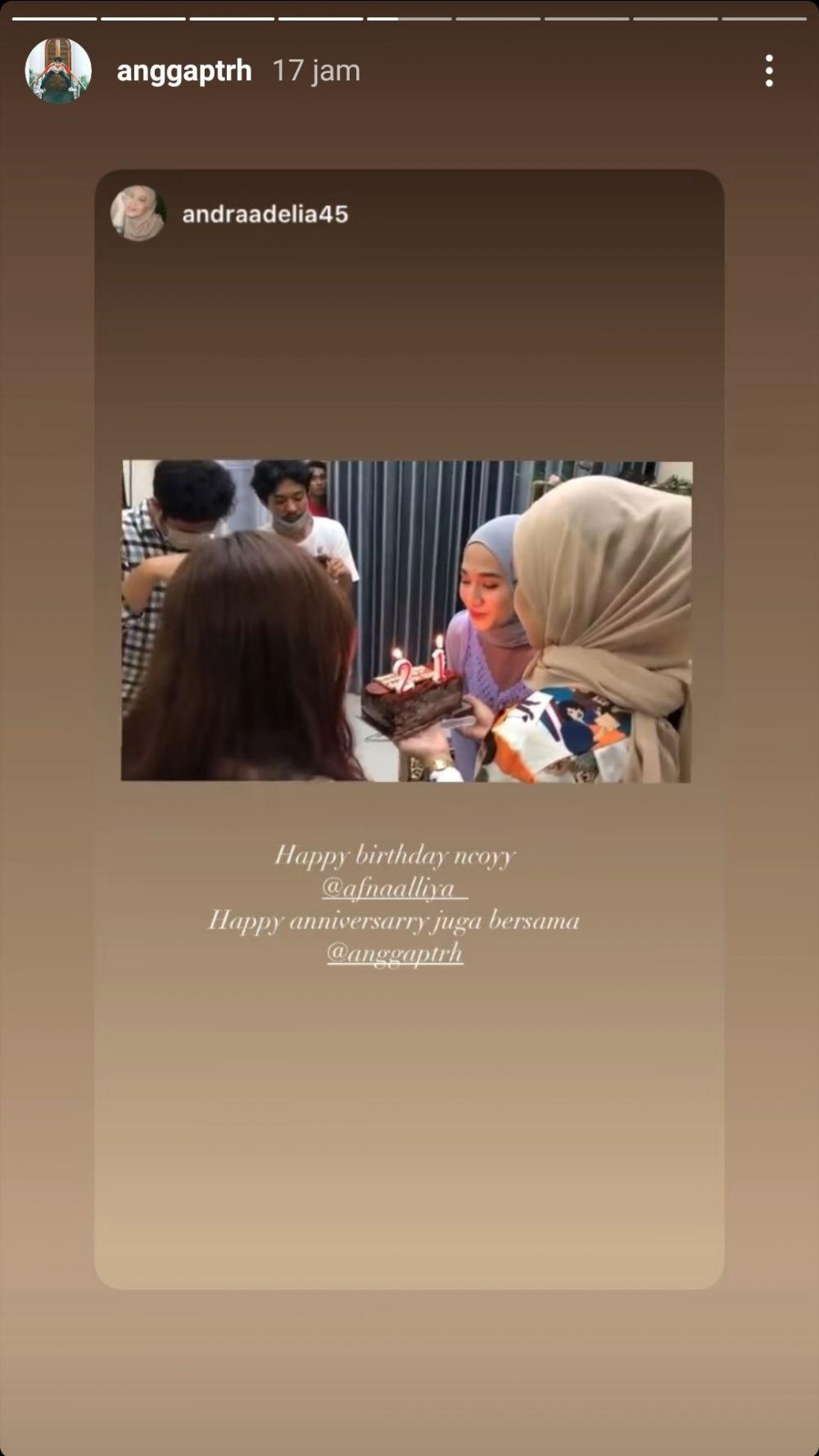 anniversary Angga dan Hafna © Instagram