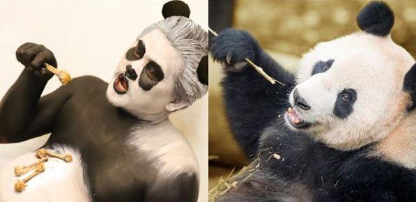 cosplay jadi hewan kocak Instagram