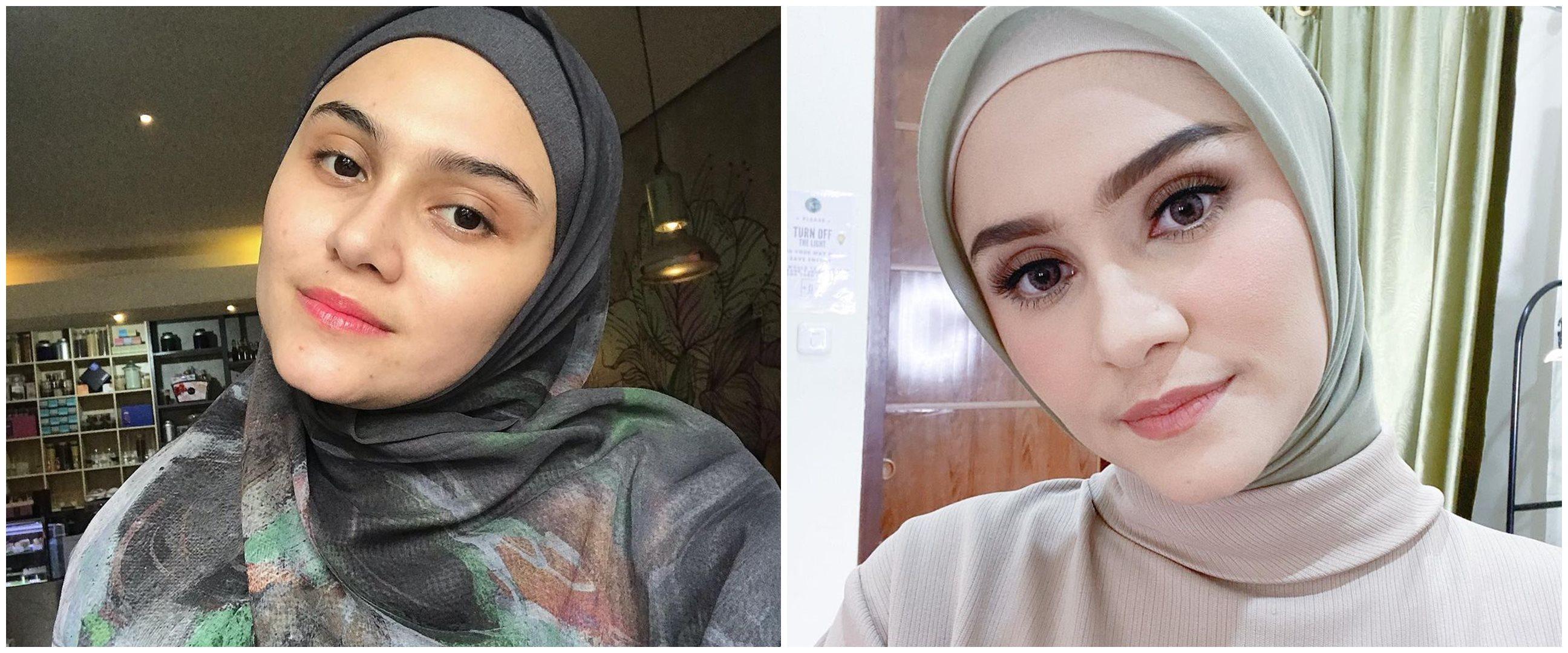 Biasa tampil natural, ini 10 potret Zee Zee Shahab pakai makeup tebal
