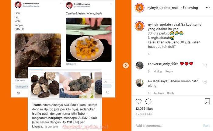 seleb cicipi kuliner harga selangit Instagram