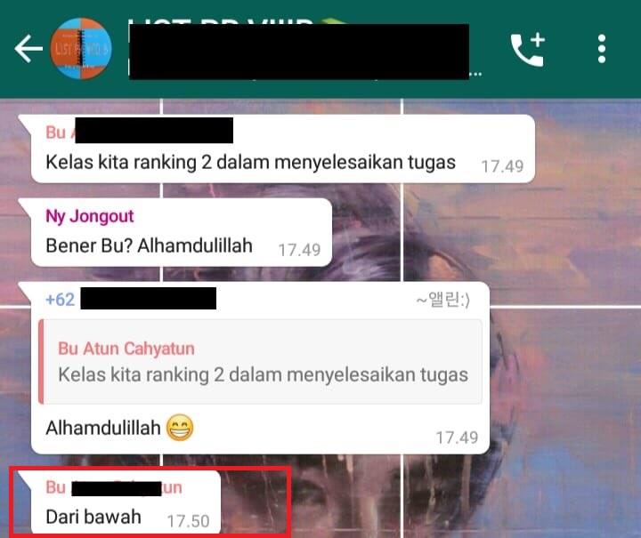 Balasan chat lucu dari guru berbagai sumber