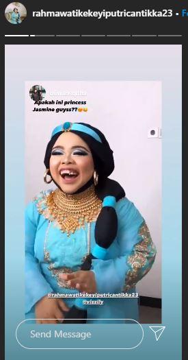 kekeyi jadi putri jasmine Instagram