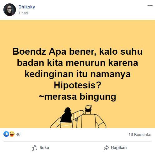 Pertanyaan polos di FB © Facebook