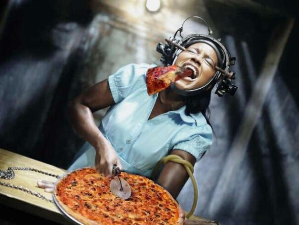 Editan film horor pizza Berbagai sumber