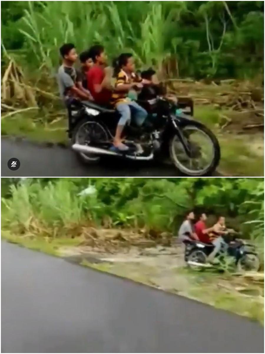 Anak kecil pakai gerobak motor Instagram/@kocak.petcaah