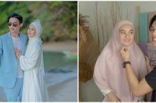 10 Momen manis Rey Mbayang kreasikan hijab Dinda Hauw dalam 7 model