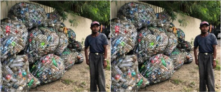Kisah haru pejuang kanker pungut sampah demi bertahan hidup