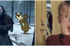 10 Editan foto gabungan adegan dua film ini bikin cerita jadi kocak